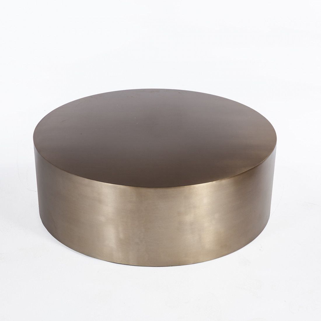 High Quality Brass Drum Coffee Table   Round