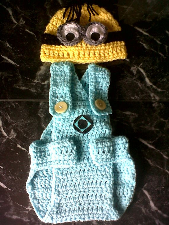 Despicable Me crochet photo shoot minion 0-3 months, by Nonnys knits ...