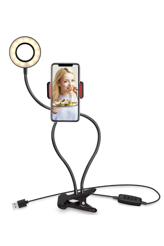 Flexible Ring Light For Smartphones In 2020 Selfie Ring Light Led Ring Light Mobile Holder