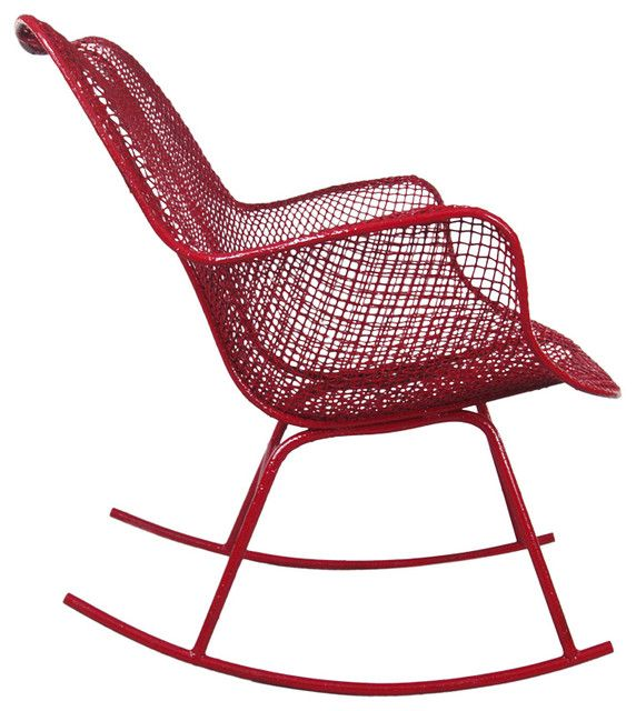 Nice View This Item And Discover Similar Patio And Garden Furniture For Sale At    The Classic And Iconic Vintage Steel Mesh High Back Sculptura Rocking  Chair ...