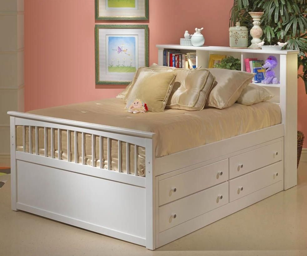 New Classic Bayfront Captain S Storage Bedroom Set In White Painted Finish 1415 Twin Storage Bed Bed With Drawers Underneath Full Bed With Storage Full size bed with drawers underneath