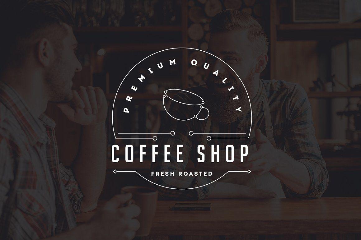 10 Coffee Shop Flat Line Logo Coffee Shop Logo Design Coffee Shop Logo Logo Design Coffee