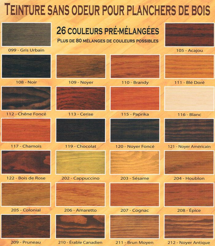 guide des couleurs teinture saman plancher de bois pinterest teinture guide et les couleurs. Black Bedroom Furniture Sets. Home Design Ideas