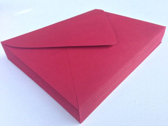 50 red envelopes a7 5x7 or a1 4bar rsvp pointed flap envelopes 50 a7 red envelope 5x7 paper source invitation by seedinvites 1900 stopboris Image collections