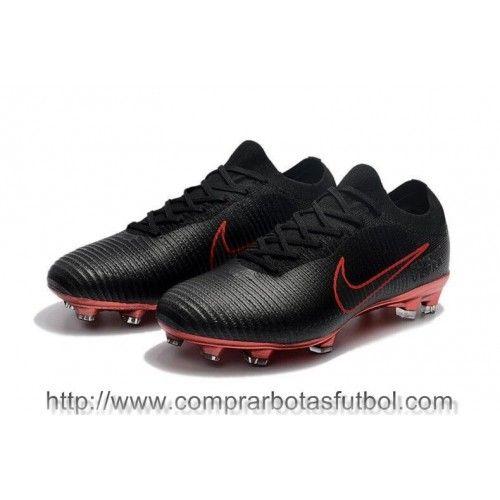 san francisco bb3fa 4e5a6 Botas De Futbol Nike Mercurial Vapor Flyknit Ultra FG Negro Rojo Shop  Online Football Boots,