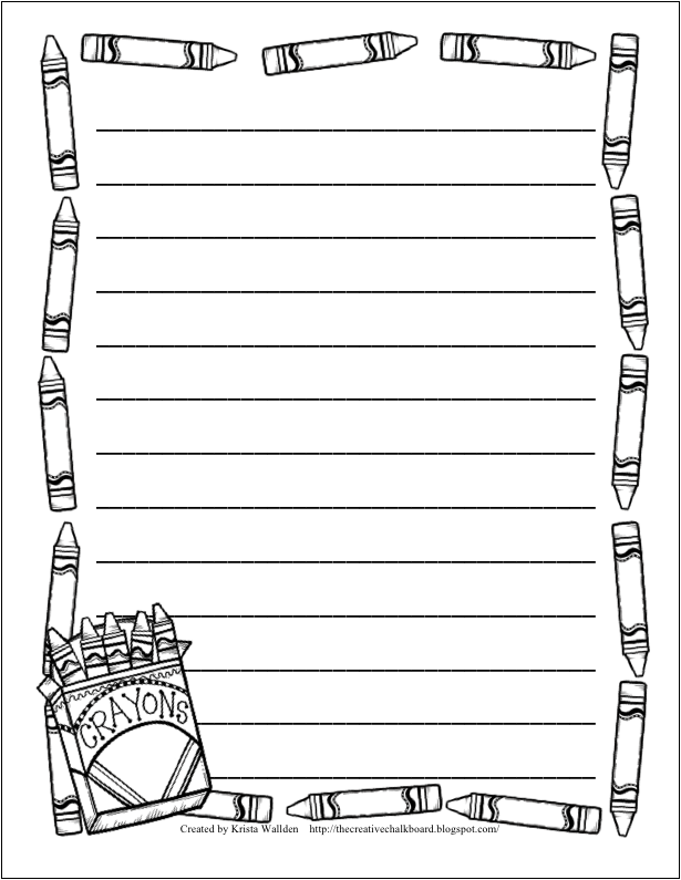 9 Free Writing Paper Templates with borders and lines – Border Paper Template