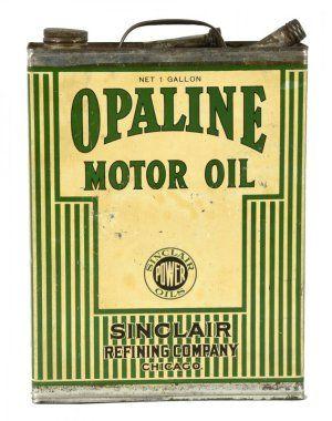 Sinclair Oils Striped Motor Oil One Gallon Can.