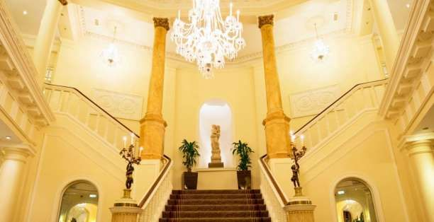 Grand Staircase at Angel Hotel in Cardiff
