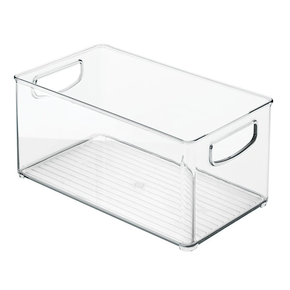 Large Plastic Bathroom Storage Organizer Bin 10 X 6 X 5 In Clear Pack Of 1 By Mdesign In 2020 Bathroom Storage Organization Bathroom Storage Organizing Bins