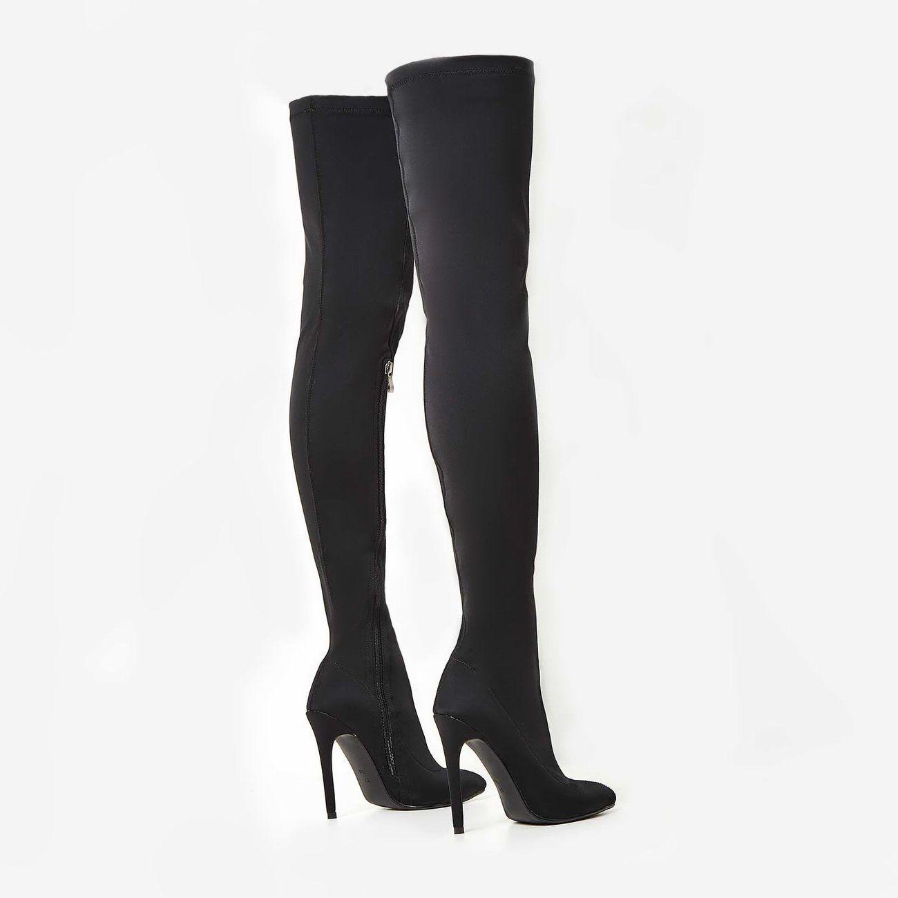 lycra thigh high boots
