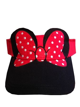 33a32ddc470 Disney Sun Visor Hat - Minnie Mouse Polka Dot Bow