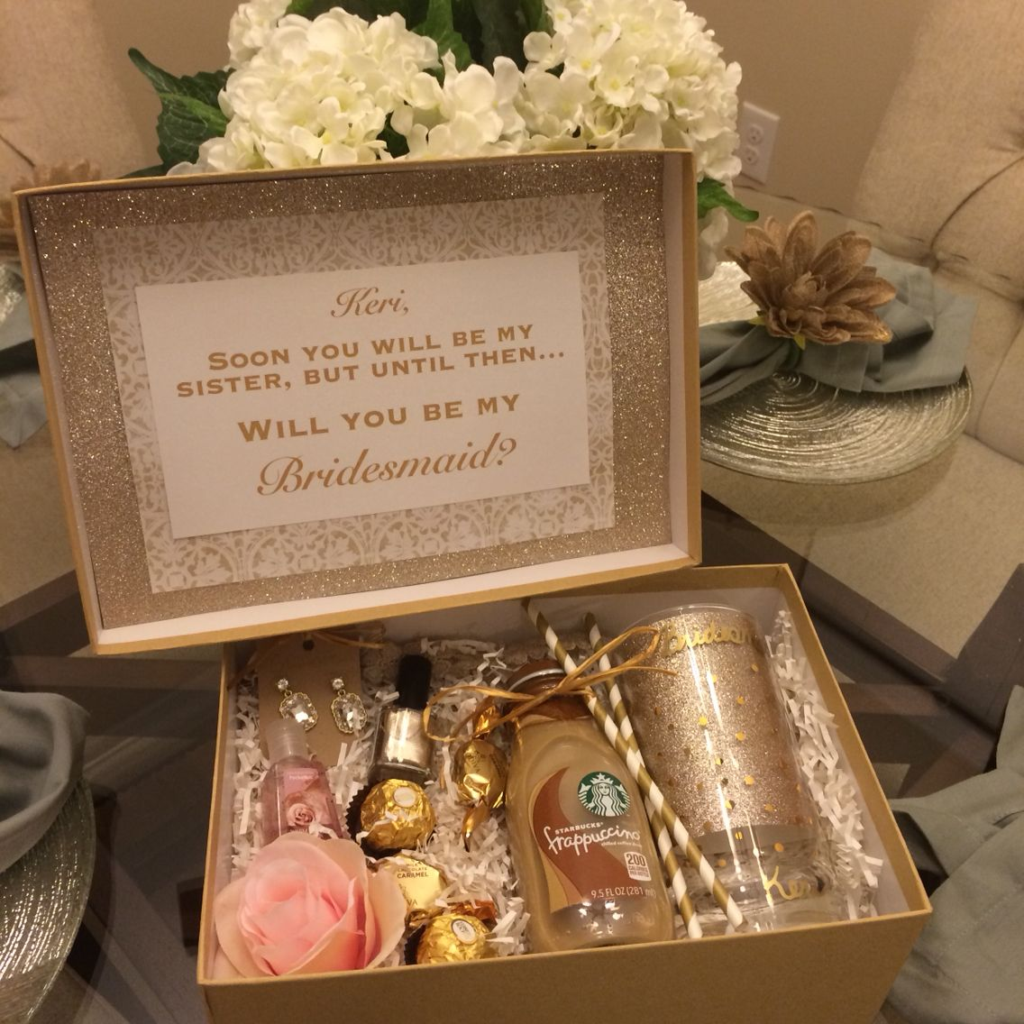 Gold And Blush Bridesmaids Box