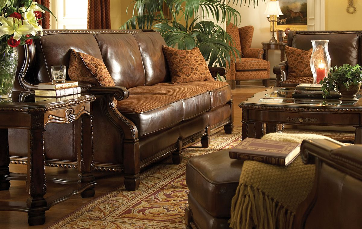 Aico windsor court living room collection furniture market austin texas