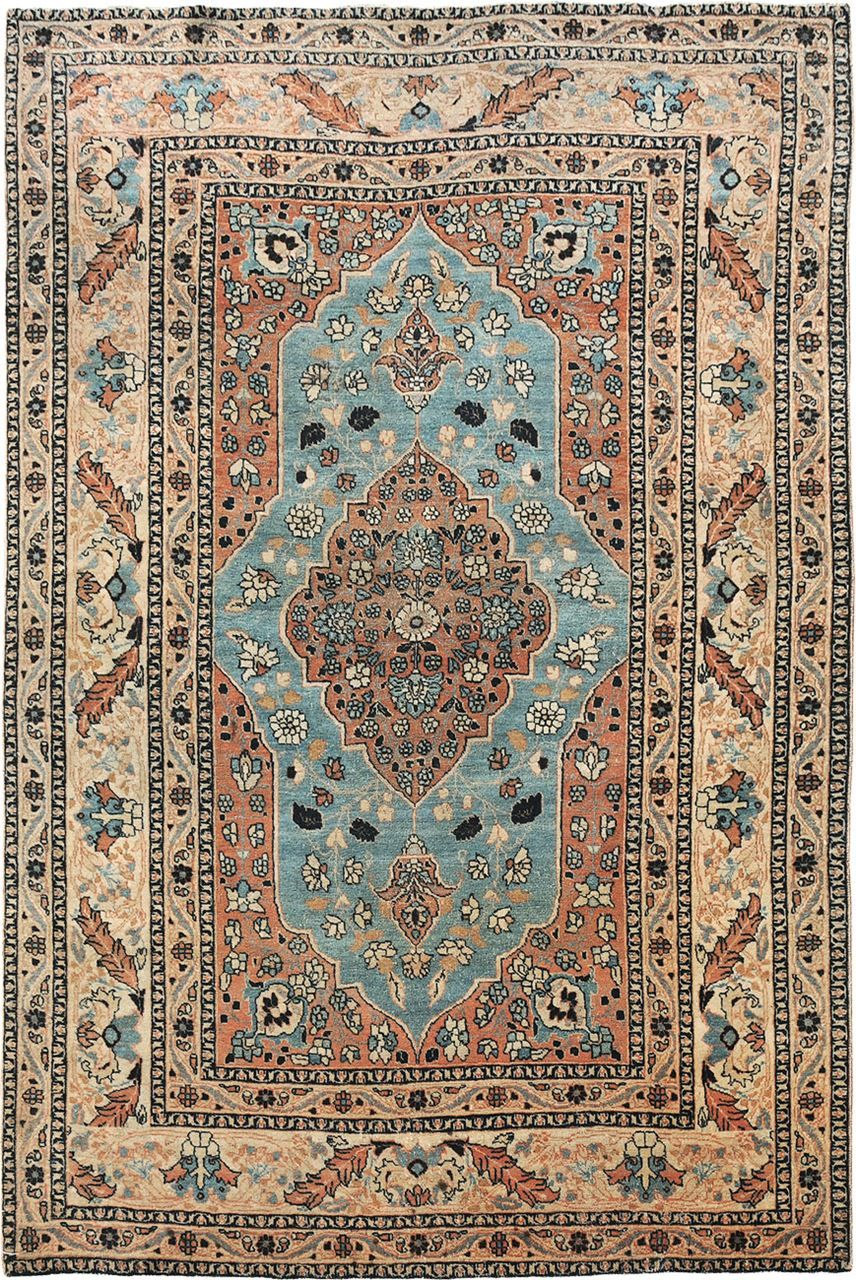"ANTIQUE TABRIZ Origin: PERSIA Size: 4' 0"" x 6' 0"" Rug ID # 308"