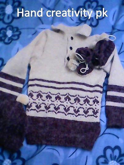 I yrs. baby sweater by handcreativitypk.www.facebook.com/handcreativitypk