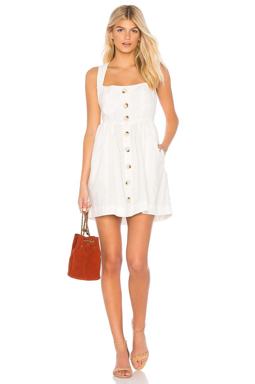 Free People Carolina Mini Dress in Ivory   REVOLVE   C & a