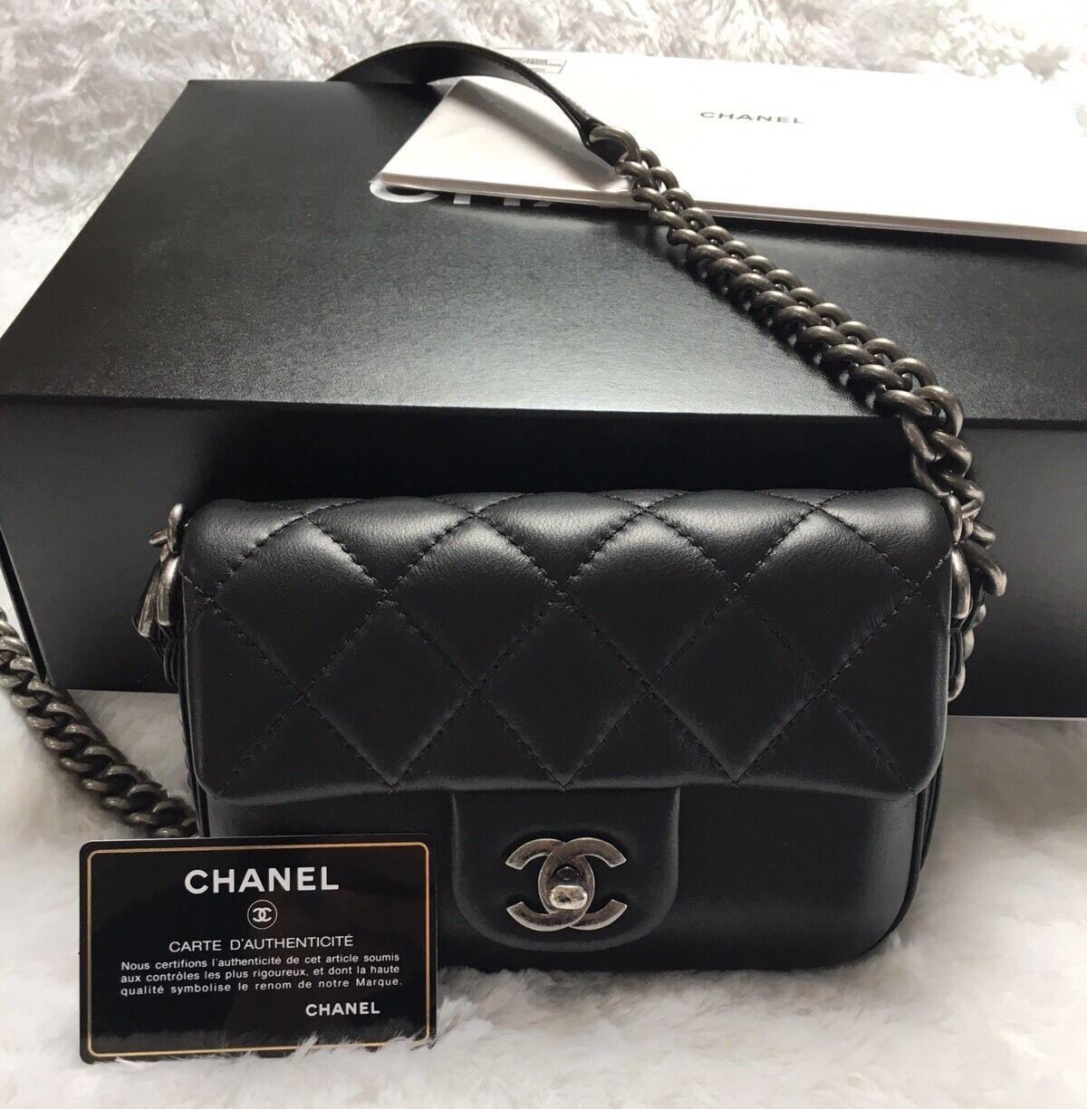 a5b9ca7f4210 Chanel Rock my Shoulder Flap Bag Black Calfskin | Bag in 2019 | Bags ...