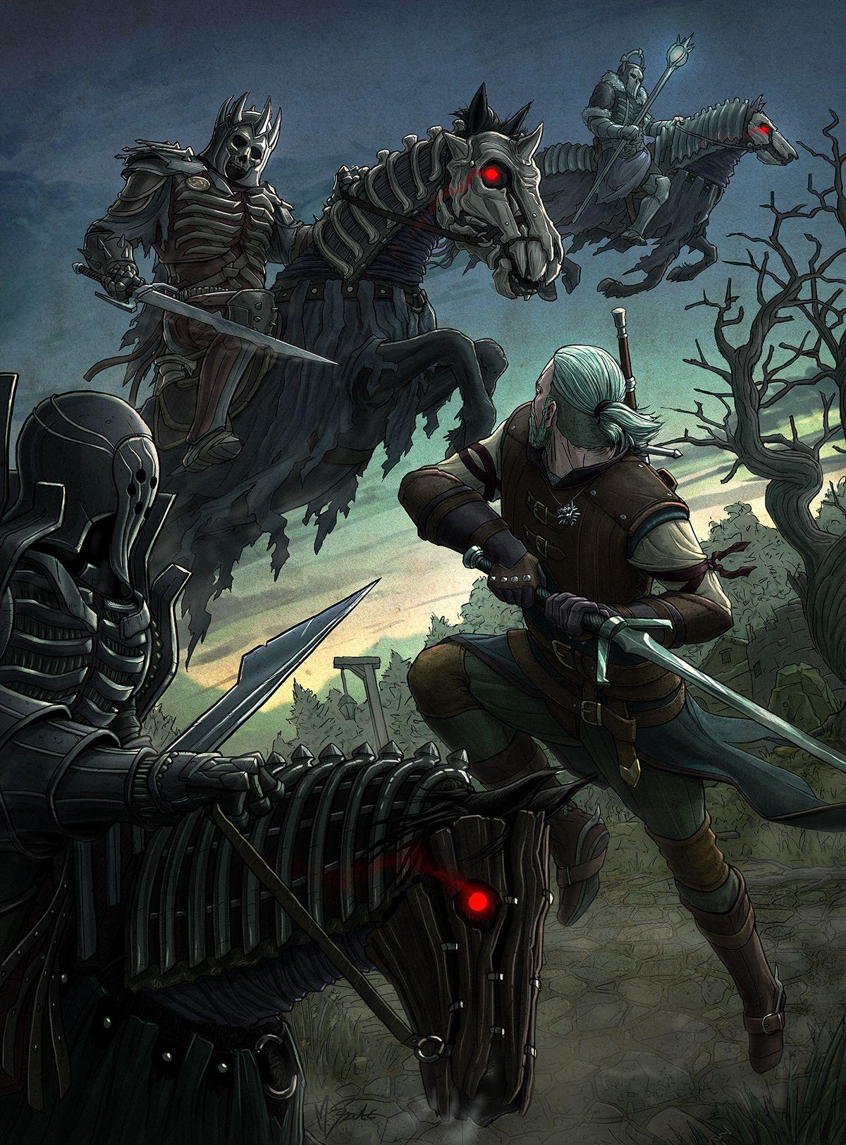 The Hunt Witcher 3 Fanart By Mariusz Szulc The Witcher The Witcher Game Witcher Art The witcher 3 wild hunt art