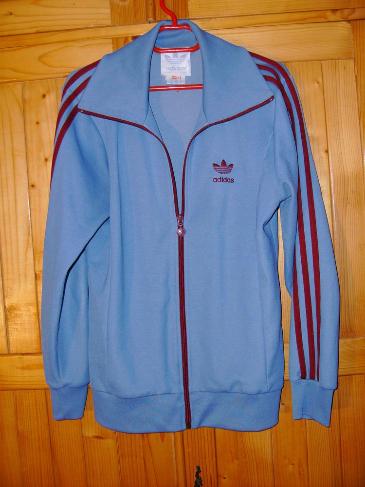 e4070ad89ff0 mens rare blue 19 80s  80s vintage adidas tracksuit top trainingsjacke  d(36) uk 10 from  51.59