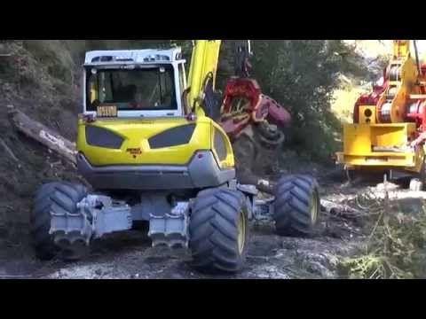 Menzi Muck M545 Harvester - YouTube m Pinterest Harvester