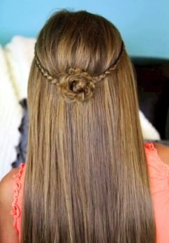 Braided Flower Tie Back By Cute Girls Hairstyles On Youtube If You