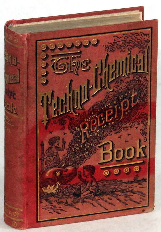 The Techno Chemical Receipt Book 1905 Winckler Industrial Formulary | eBay