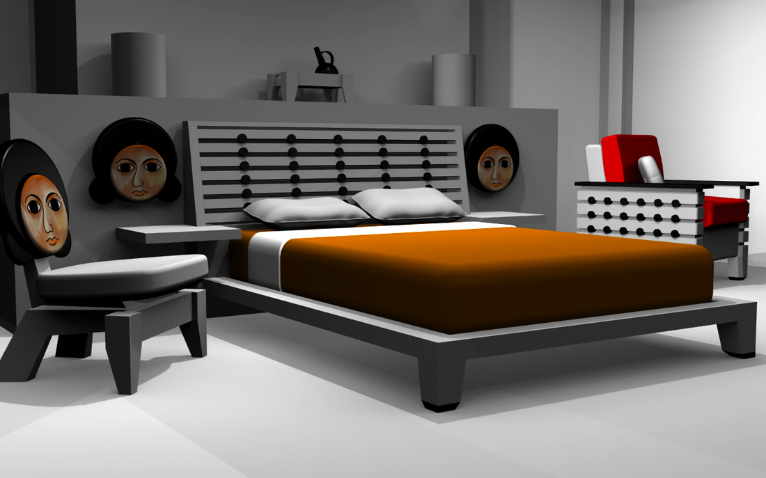 Contemporary African Furniture Bedroom Set Based On Axum Stelae Found In Ethiopia Furniture African Furniture Luxury Furniture