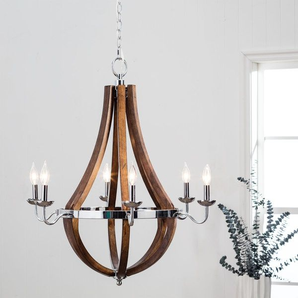 Vineyard chrome 6 light chandelier overstock shopping the vineyard chrome 6 light chandelier overstock shopping the best deals on aloadofball Images