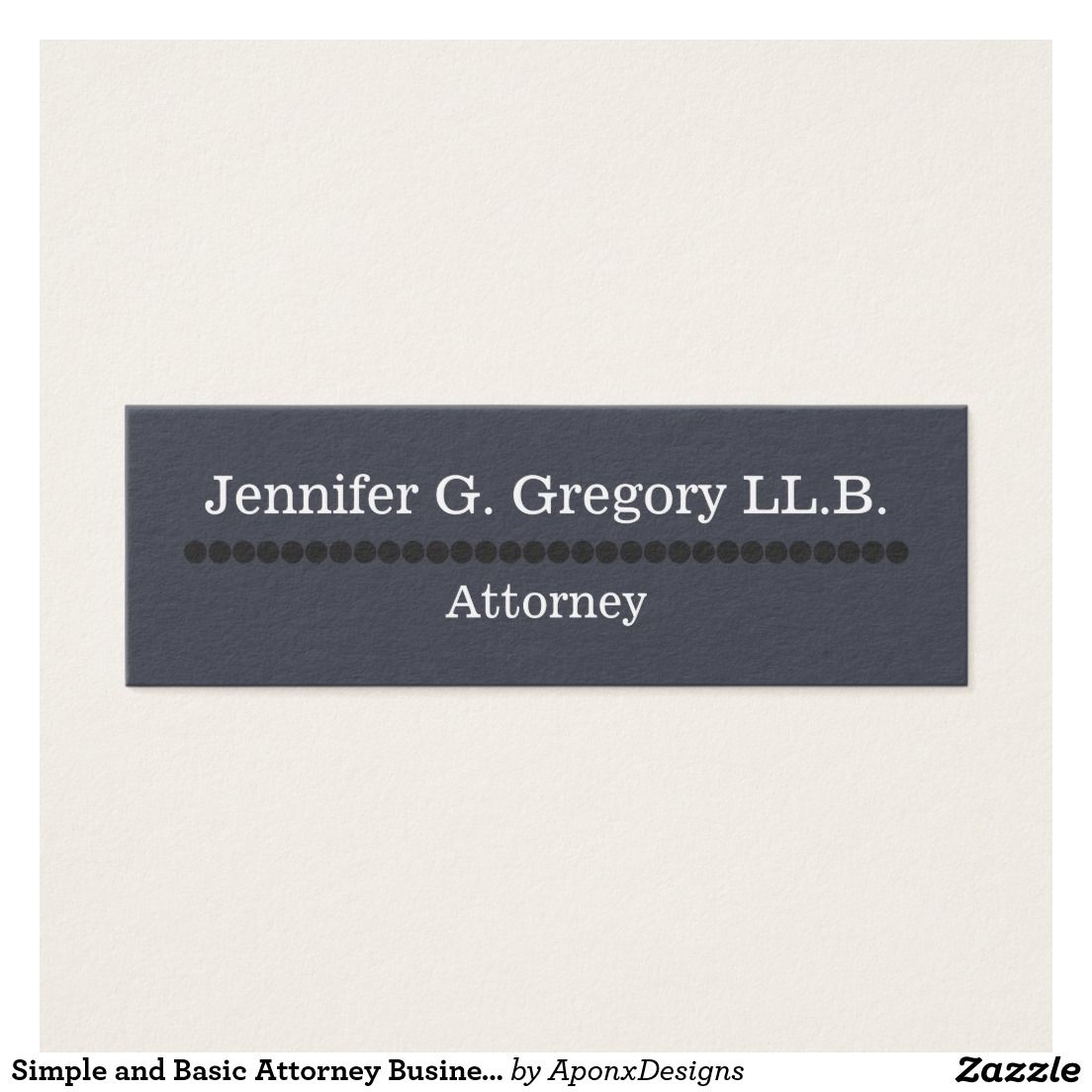 Simple And Basic Attorney Business Card Zazzle Com Attorney Business Cards Simple Business Cards Business Card Design Simple