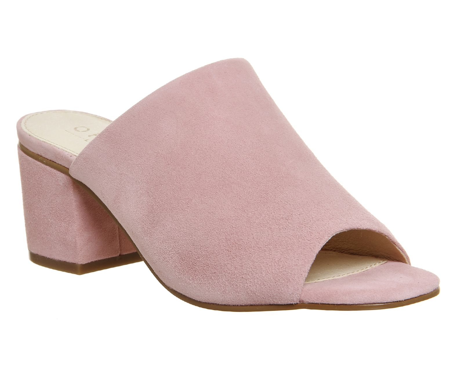 Buy Pink Suede Office Madness Block Heel Mules from OFFICE.co.uk.