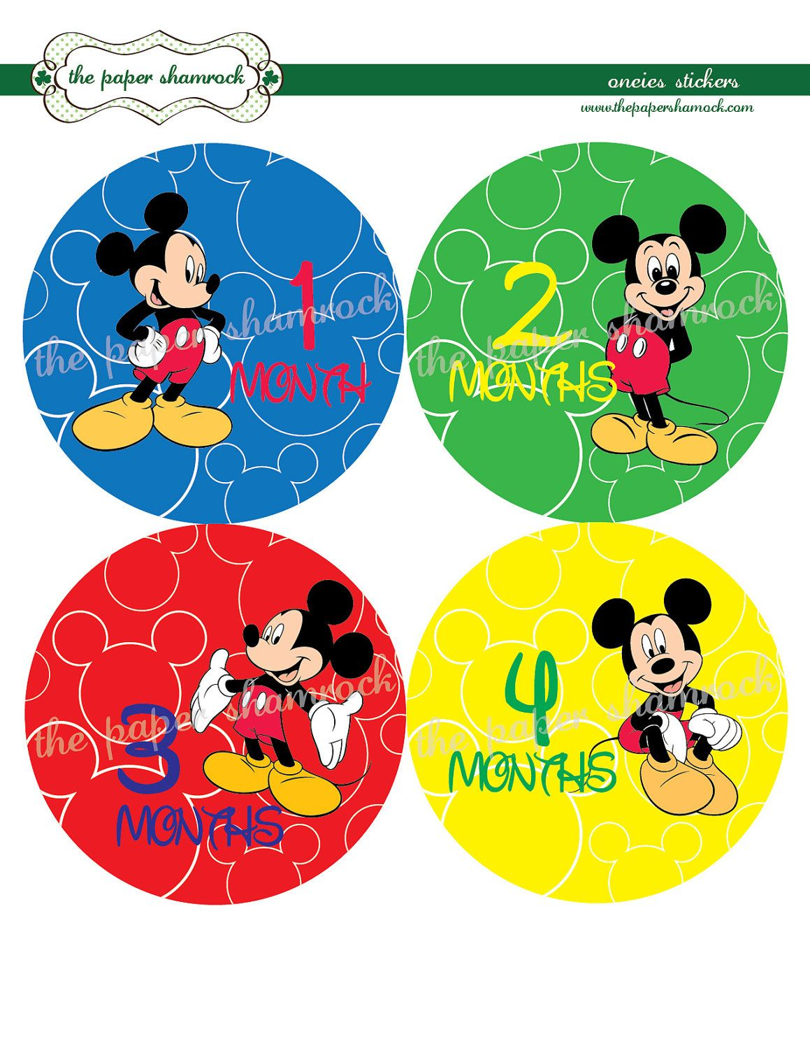 c3abe3c80 Mickey Mouse Monthly Onesies Stickers, Baby Stickers for Onesies, Month  Stickers. $9.00, via Etsy.