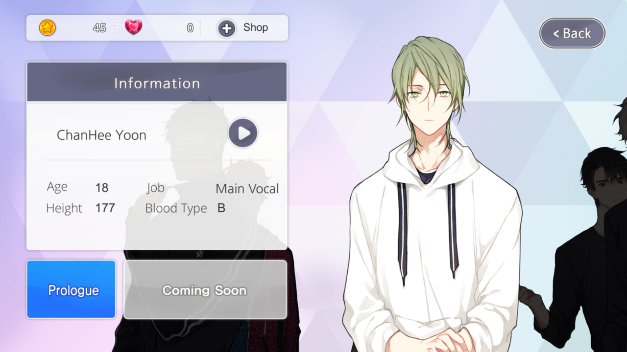 Ikemen Fangirl English Otome Game App With Korean Voice My Game App The Voice Korean