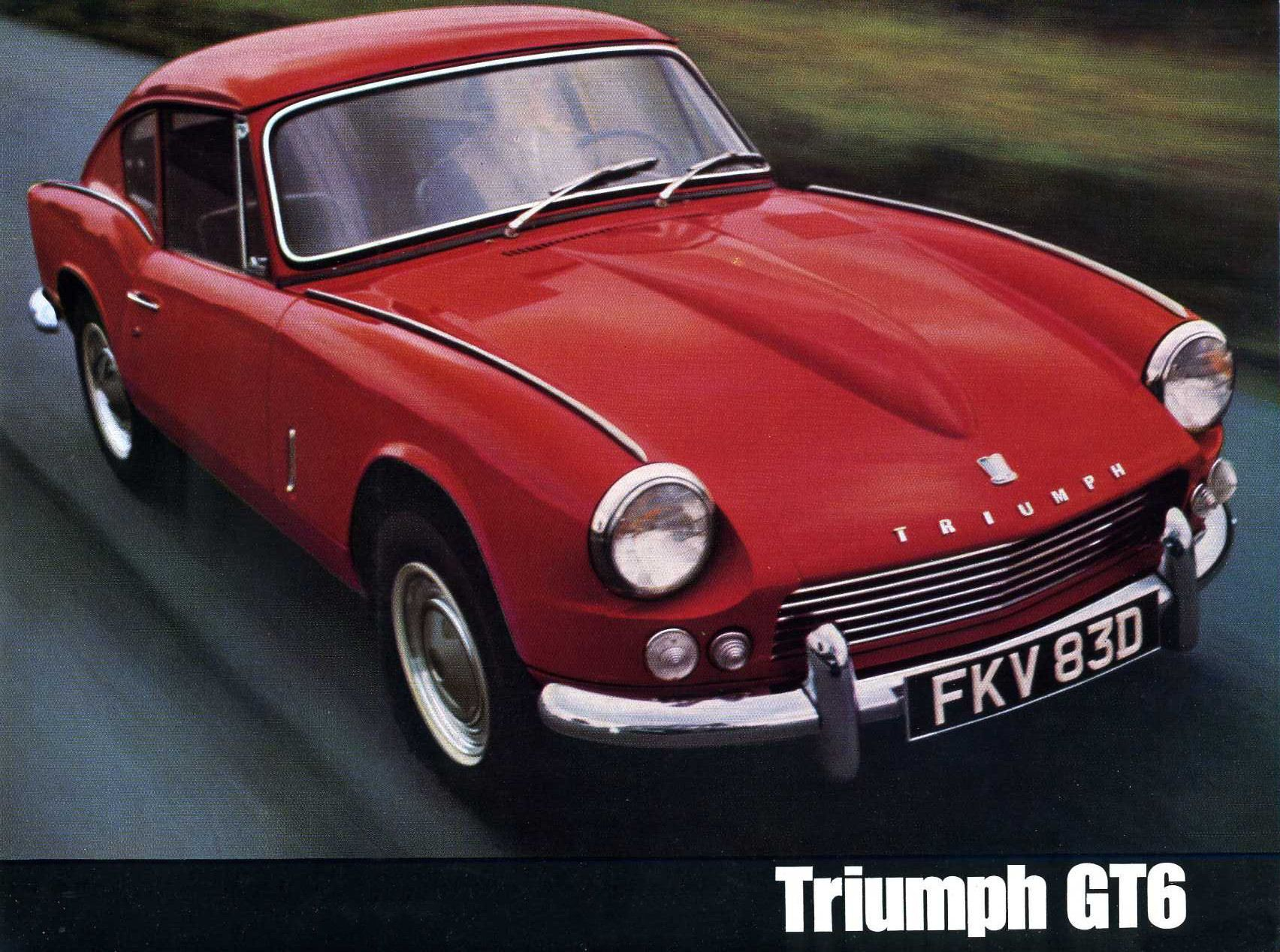 Triumph gt6 was an in line 6 cylinder the spitfire which was not