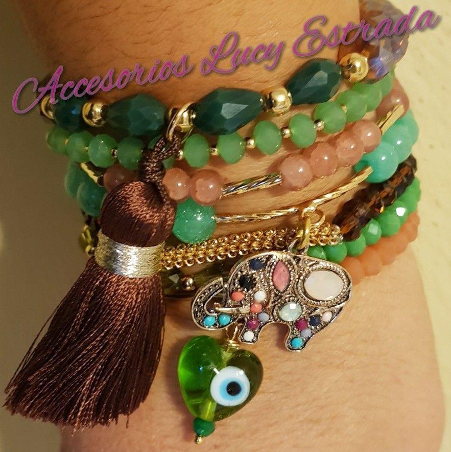 1213b7745c64 semanario #pulseras #cafe #verde #accesorios #bisuteriafina ...