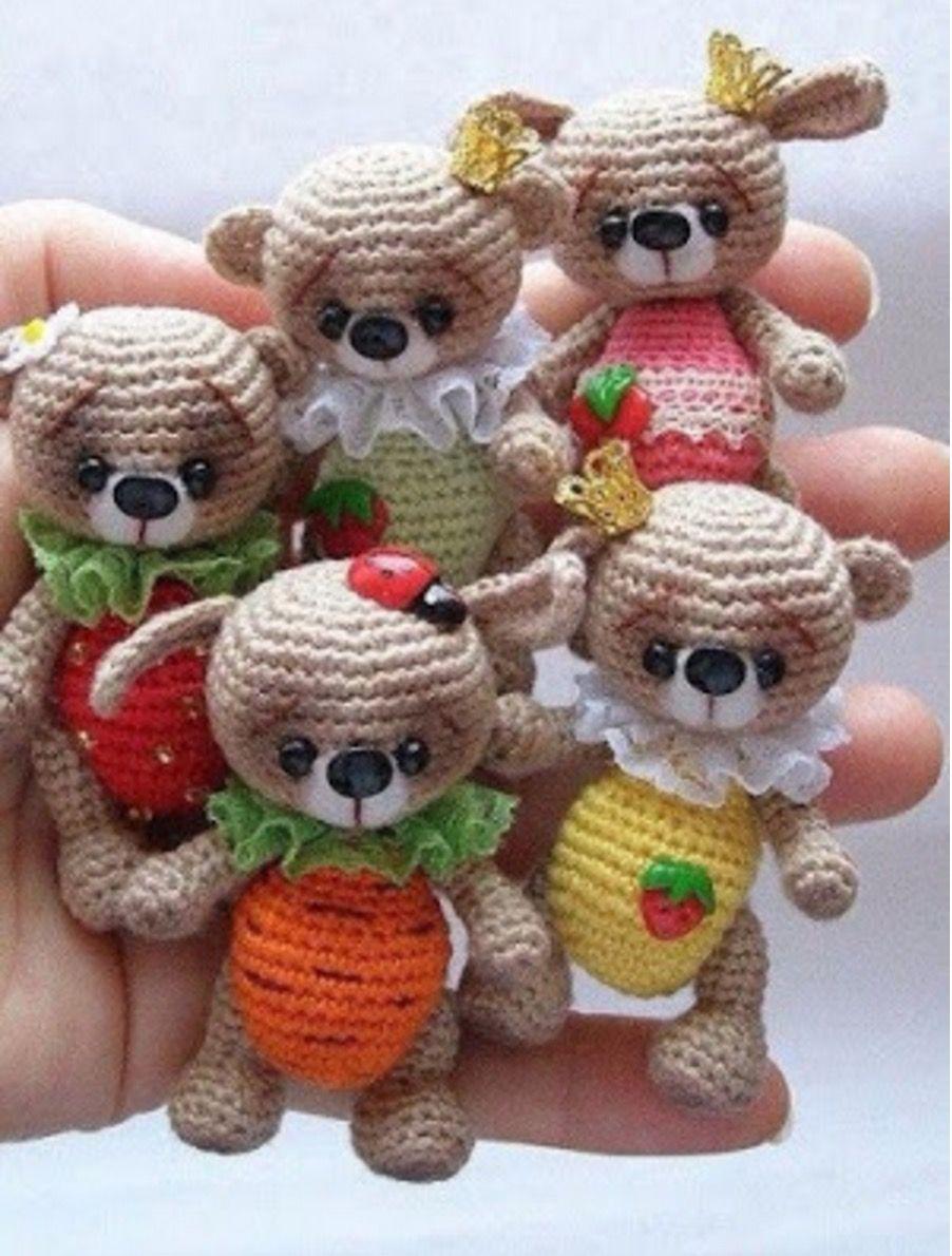 Tiny Teddy Crochet Pattern Watch The Video Tutorial | Tiny teddies ...