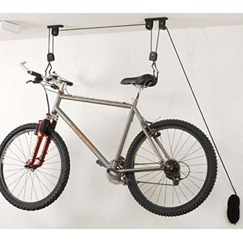 Bicycle Lift Hoist Ceiling Mount Bike Storage Hanger Roof Rack Hook Read More At The Image Link Note Amazon Bike Storage Garage Garage Bike Bike Storage