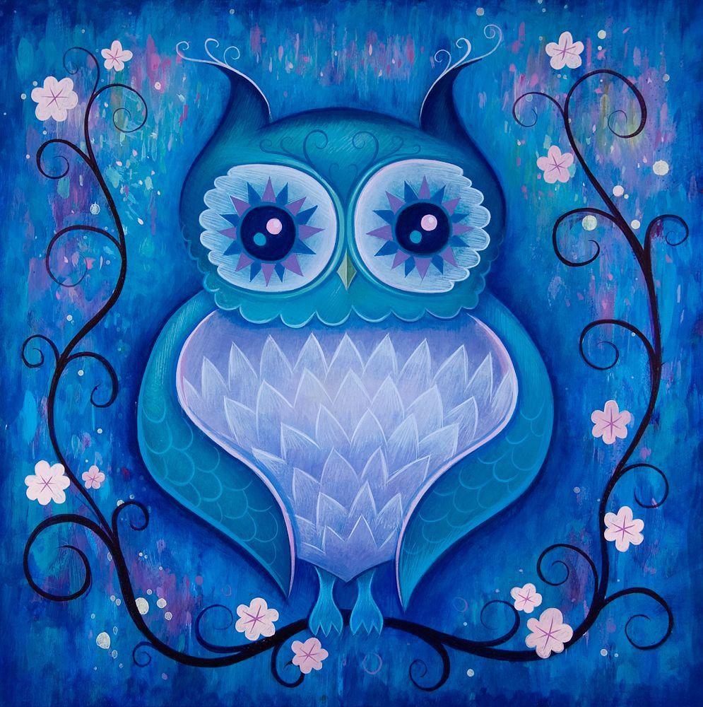 The Owl Paintings | Eule, Zeichnungen und Vogel