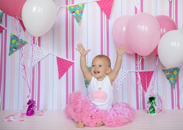 Baby Girl First Birthday Decorations My Birthday Pinterest