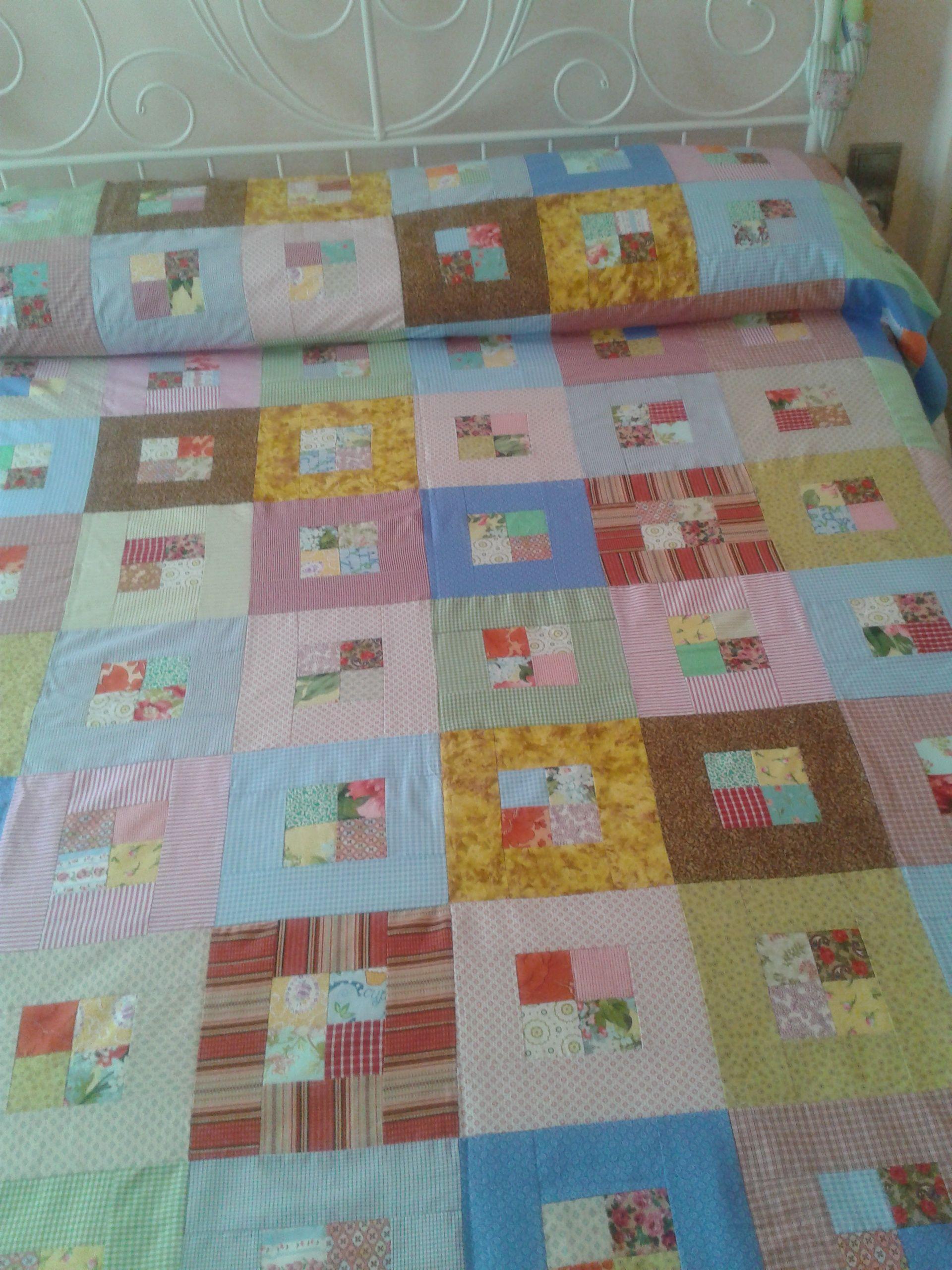 Patchwork bed sheets patterns - Colcha De Patchwork