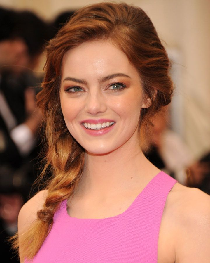 How To Recreate Emma Stone S Gorgeous Five Strand Braid Guest Hair Wedding Guest Hairstyles Hairstyles For Thin Hair
