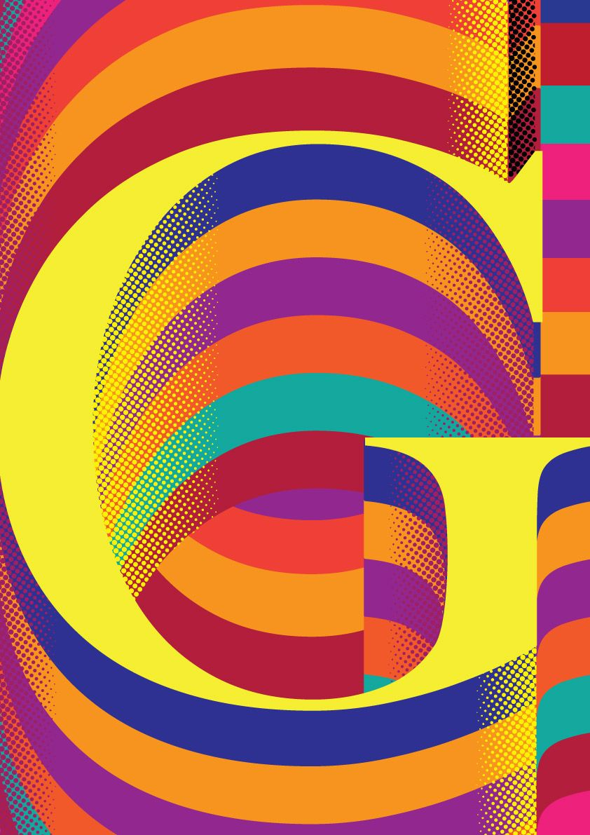 Color art tipografia - Letra G Typography Tipografia Letter Www Marcusso Art Br