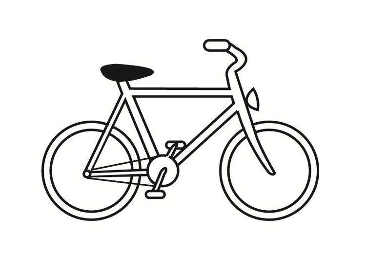 Dibujo para colorear bicicleta | bicicleta | Bicycle drawing