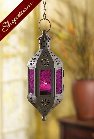12 Wholesale Lanterns Purple Glass Moroccan Hanging Lanterns Bulk Lot Hanging Candle Lanterns Lantern Candle Decor Glass Candle Lantern