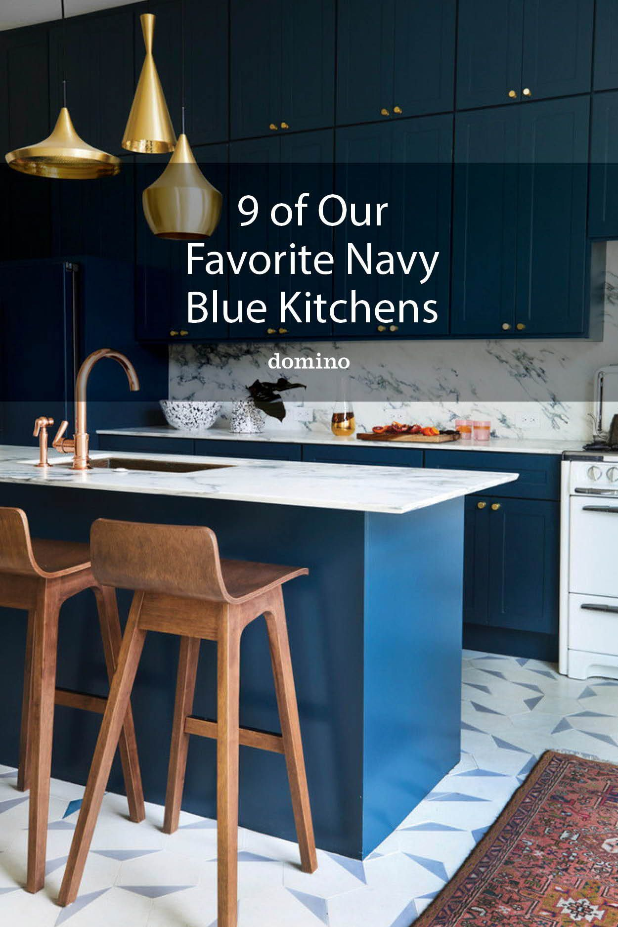 Navy Kitchen Cabinets Go Well with White Counters, But What Else ...