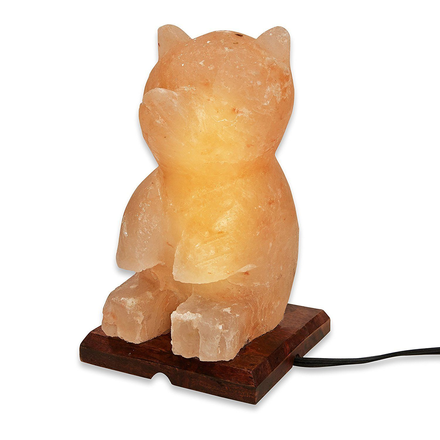 Wbm Salt Lamp Teddy Bear Shaped Natural Himalayan Salt Lamp  Himalayan Salt