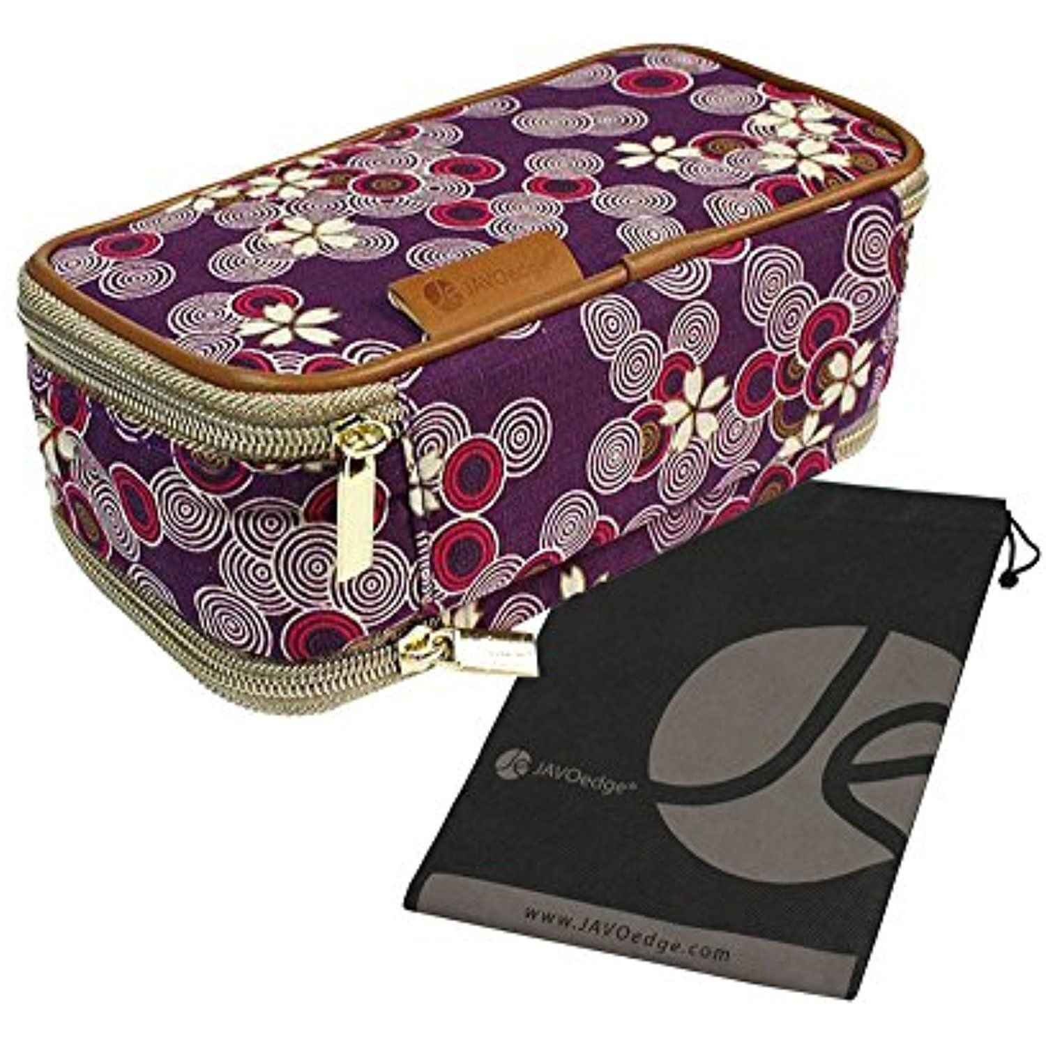 DoubleSided Cosmetic Fabric Toiletry and Jewelry Bag