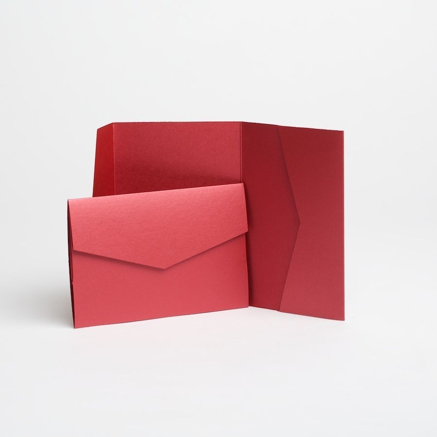 Other Paper Crafts 183243: Wine Pocketfold Invitations With ...