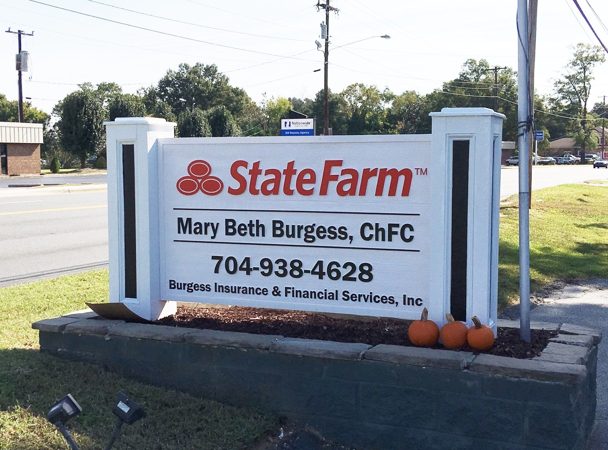 Custom Made Hdu Panel Sign For State Farm Office In Kannapolis Nc