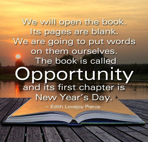 New Year gives you new opportunities! Make the most of it