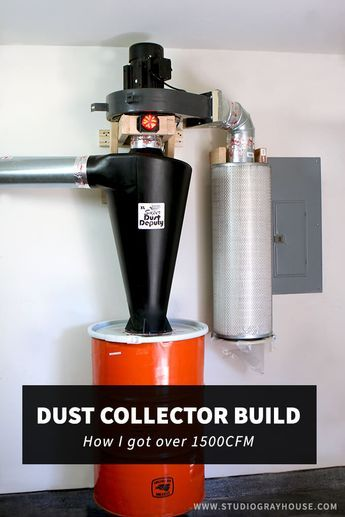Tutorial with video showing how to modify a Harbor Freight Dust Collector using a Super Dust Deputy XL Cyclone Separator to create a powerful (over 1500CFM) and effective custom dust collector. Great for those who do a lot of DIY woodworking projects in a garage or shop.